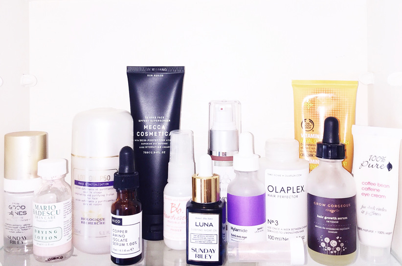 What are the 6 basic skincare products every woman needs on her top shelf?