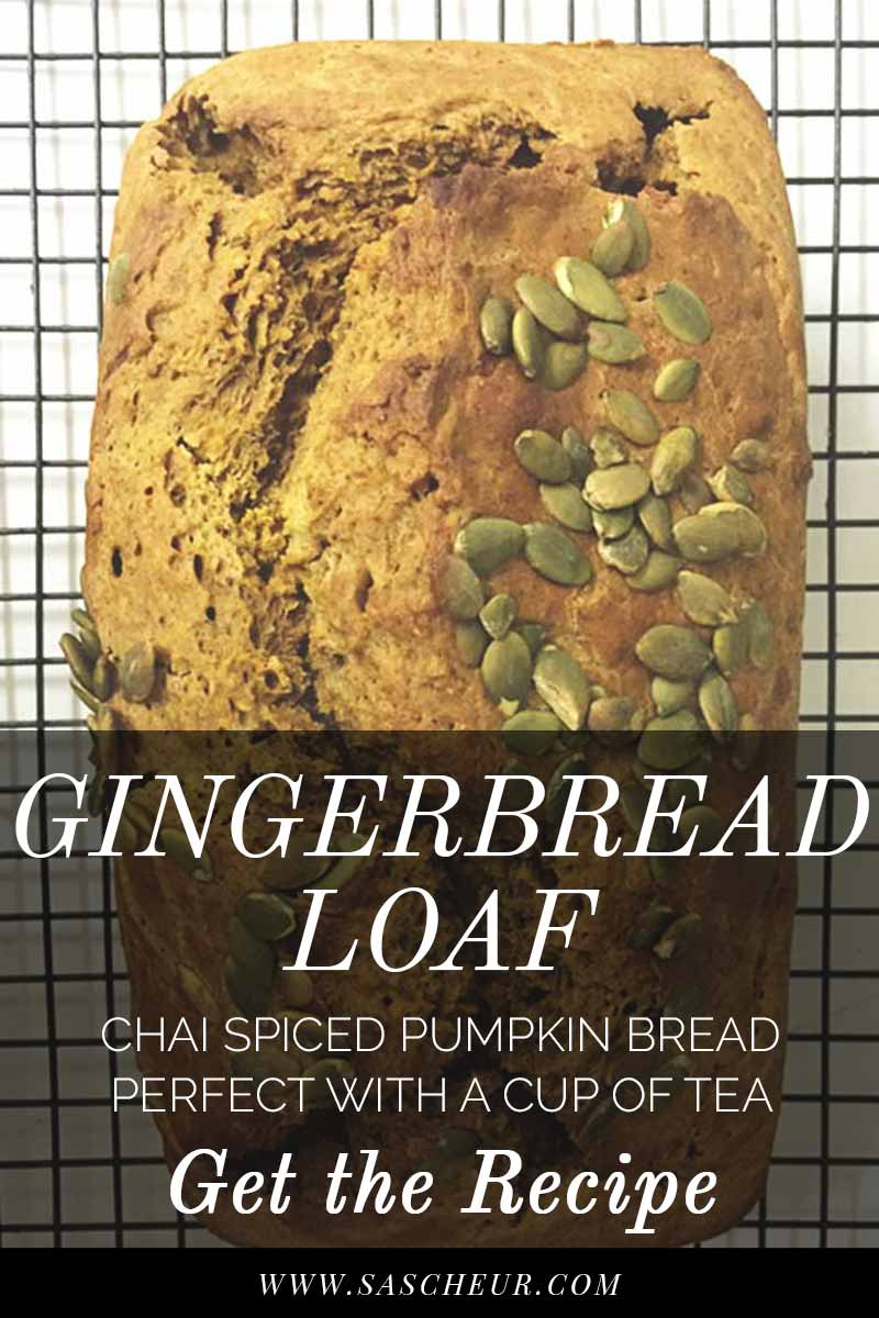 Chai Spiced Pumpkin Bread is the perfect pick me up during winter. Get the recipe!