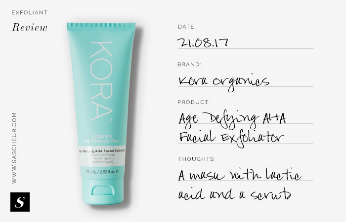 Kora Organics Age Defying AHA Facial Exfoliator